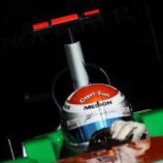 Adrian Sutil en la clasificación del GP de España 2011