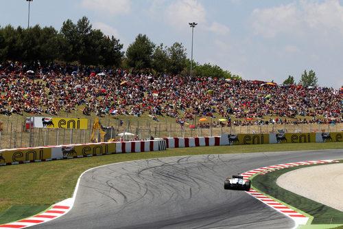 Mucho público en la 'pelouse' del Circuit de Catalunya