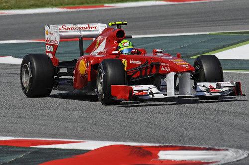 Massa durante los libres 3 del GP de España 2011