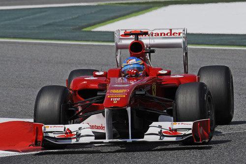 Fernando Alonso en los libres 3 del GP de España 2011