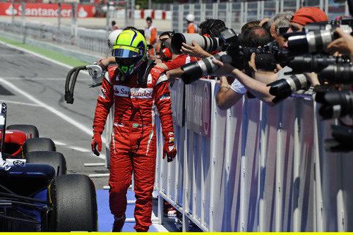 Massa decepcionado al final de la clasificación del GP de España 2011