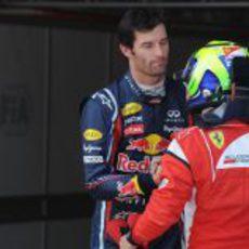 Massa felicita a Webber por su 'pole' en el GP de España 2011