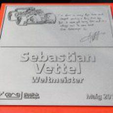 La placa de Sebastian Vettel en la 'Avenida de los Campeones' del Circuit de Catalunya