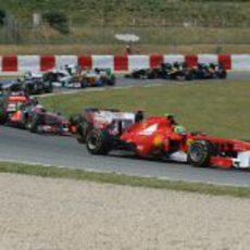 Felipe Massa tras la salida del GP de España 2011
