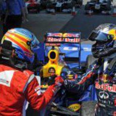 Alonso felicita a Vettel por su victoria en el GP de España 2011