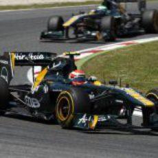 Jarno Trulli durante la carrera del GP de España 2011
