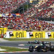 Kovalainen durante la carrera del GP de España 2011