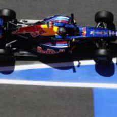 Vettel desde arriba en España 2011