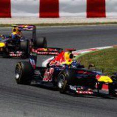 Vettel delante de Webber en el GP de España 2011