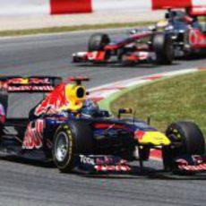 Vettel pudo controlar a Hamilton en el GP de España 2011