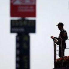 Vettel en lo más alto del podio del GP de España 2011