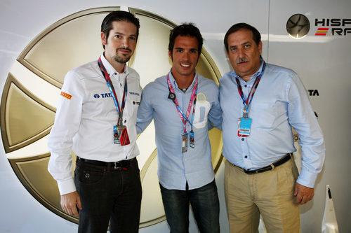 Toni Elías visitó a Hispania en el GP de España 2011