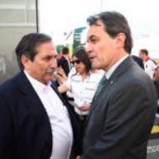Artur Mas y José Ramón Carabante en el GP de España 2011