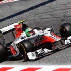 Liuzzi durante la clasificación del GP de España 2011