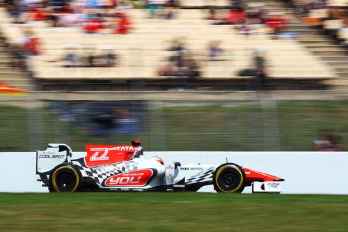 Karthikeyan este sábado en el GP de España 2011