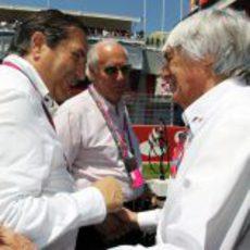 Carabante y Ecclestone en el GP de España 2011