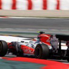Liuzzi no pudo terminar la carrera de España 2011