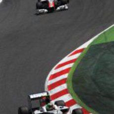Los pilotos de Hispania en el GP de España 2011