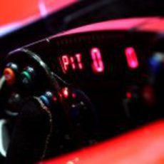 El volante de uno de los monoplazas de Virgin