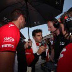 D'Ambrosio en la parrilla del Gran Premio de España 2011