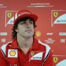 Fernando Alonso en rueda de prensa en Mónaco