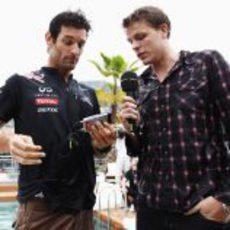 Entrevista a Mark Webber en mojado