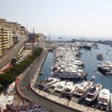 El puerto de Montecarlo durante los primeros libres del Gran Premio
