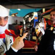 Jerome D'Ambrosio estrena casco para el GP de Mónaco 2011