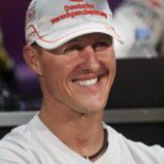 Schumacher durante la rueda de prensa del miércoles en Mónaco