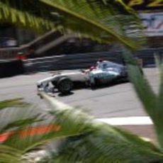 Schumacher rueda en las calles del Principado de Mónaco