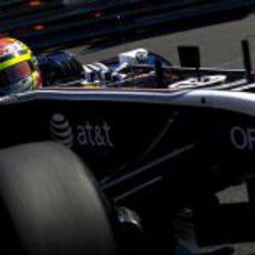 Maldonado en los libres del GP de Mónaco 2011