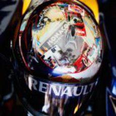 El casco de Sebastian Vettel para el GP de Mónaco 2011