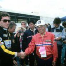 Senna como piloto del Team Lotus