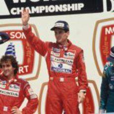 Senna y Prost juntos en el podio