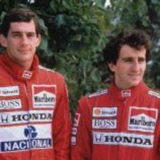 Presentación de Senna como nuevo piloto de McLaren