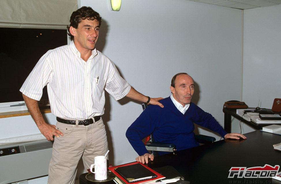 Ayrton Senna y Frank Williams a finales de 1993