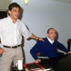 Ayrton Senna y Frank Williams a finales de 1993