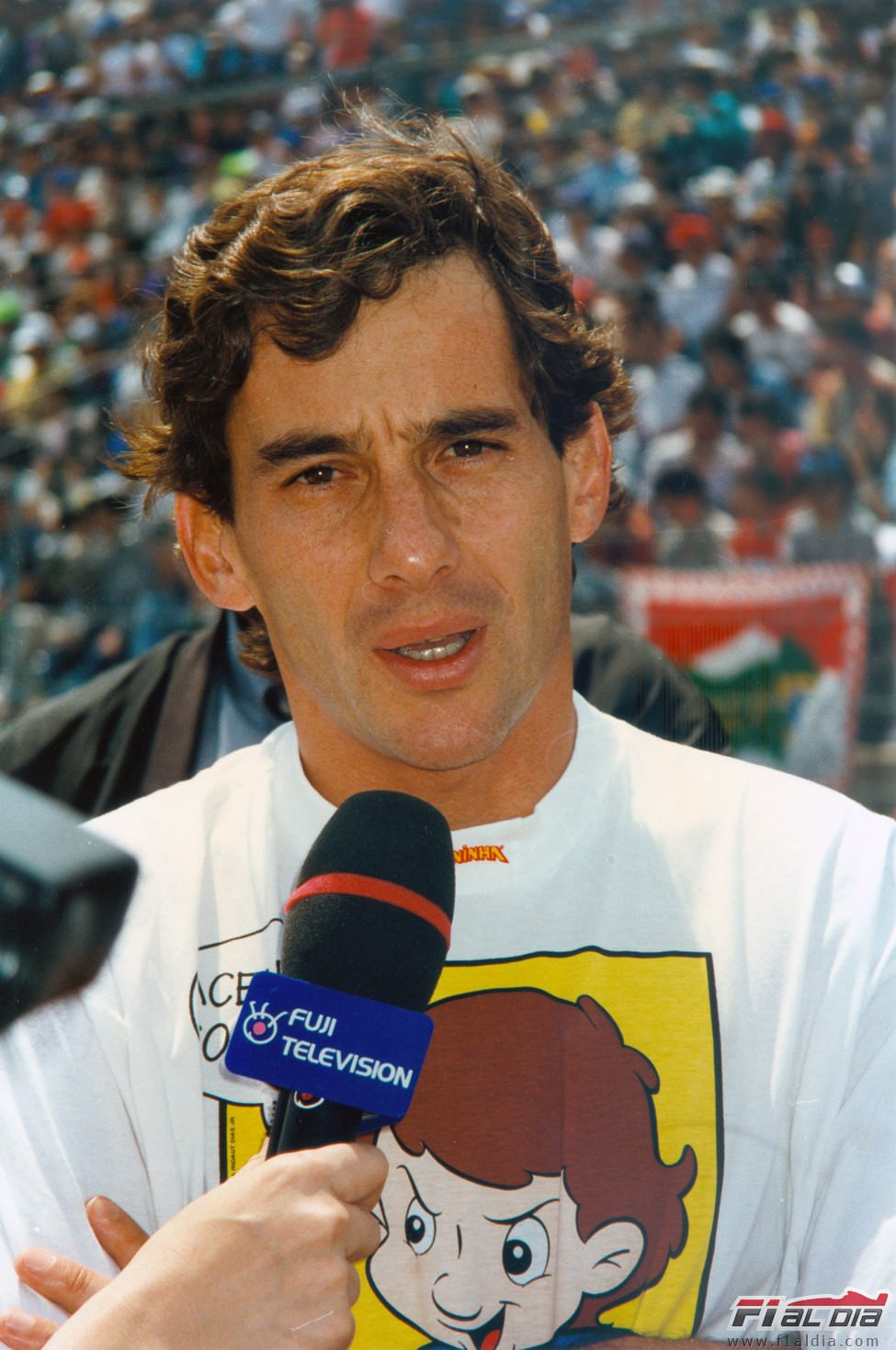 Senna en la parrilla del GP de Japón de 1993