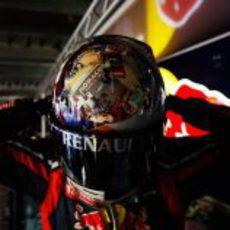 Vettel estrena casco en el GP de Mónaco 2011