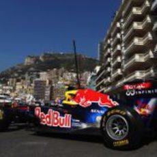 Mark Webber en los libres del jueves en Mónaco 2011