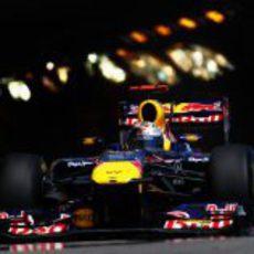 Vettel saliendo del túnel del GP de Mónaco 2011