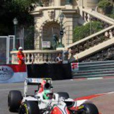 Liuzzi sufrió un accidente en la FP1 del GP de Mónaco
