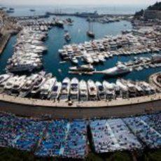Panorámica del puerto deportivo de Mónaco 2011