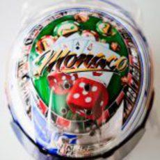 El casco de Sébastien Buemi para el GP de Mónaco 2011