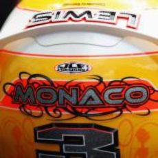 El casco de Lewis Hamilton para el GP de Mónaco 2011
