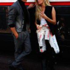 Jenson Button y Esther Cañadas juntos en el GP de Mónaco 2011