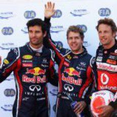 Vettel, Button y Webber fueron los más rápidos en la clasificación
