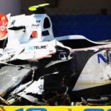 Fortísimo accidente de Sergio Pérez en el GP de Mónaco 2011