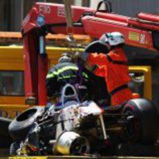 Sergio Pérez sufrió un accidente muy fuerte en el GP de Mónaco 2011