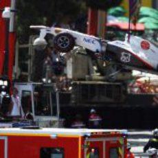 El Sauber de Sergio Pérez vuela en el GP de Mónaco 2011